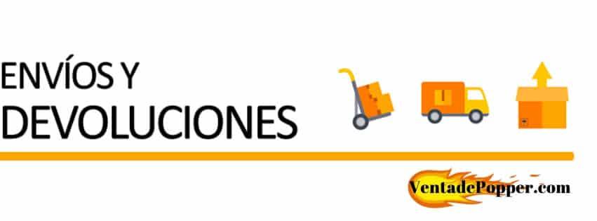 envíos y devoluciones venta de popper online