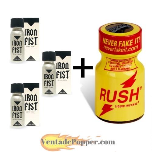 lote popper iron fist y rush en venta de poppers online