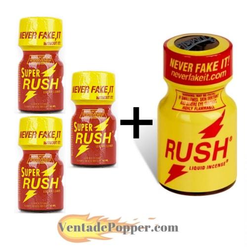 lote de super rush y rush en venta de popper online