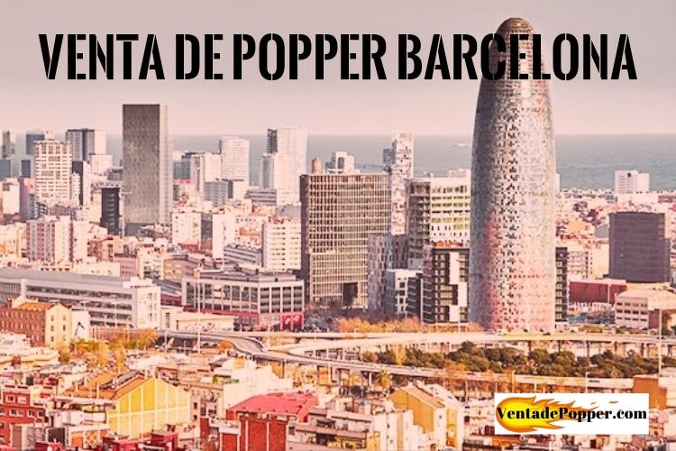 venta de popper barcelona imagen de la ciudad con el logo