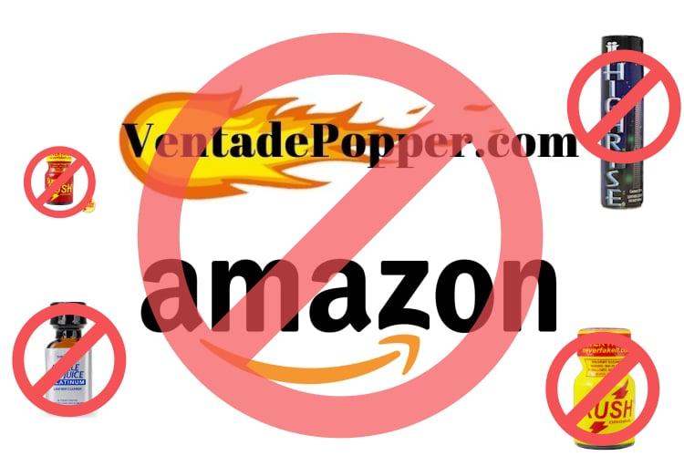 venta de popper en amazon esta prohibida imagen del logo
