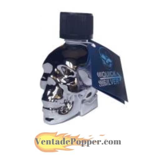 popper calavera con el logo de venta de popper en españa